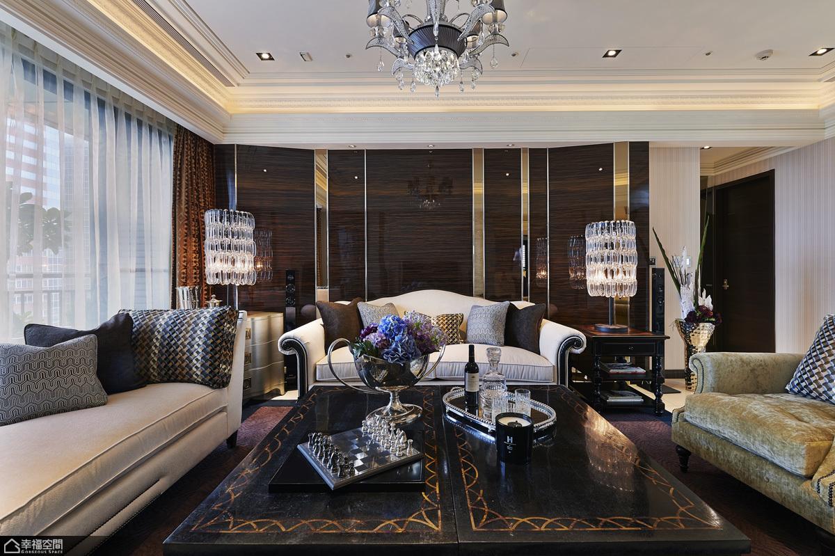 欧式风格大气沙发背景墙设计_齐家网装修效果图图片