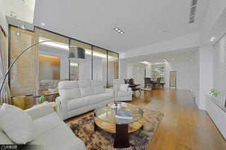 混搭风格公寓温馨客厅设计
