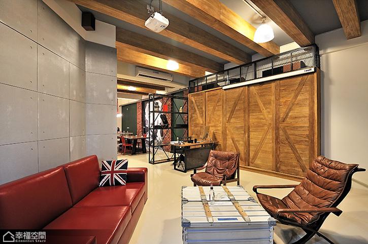 英伦风格公寓另类沙发背景墙装修图片