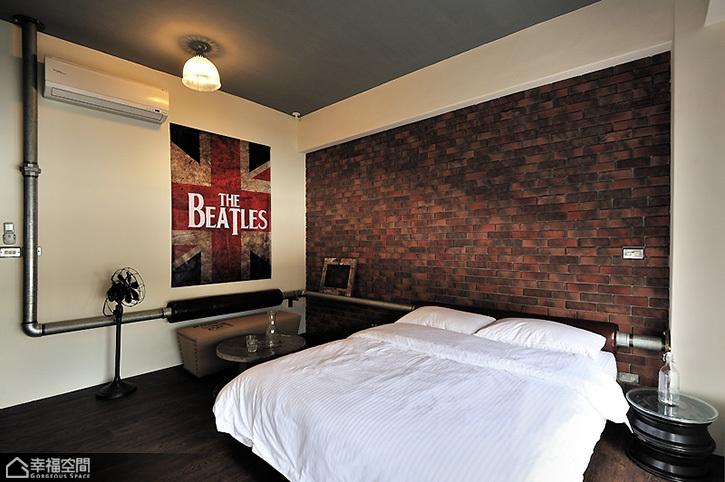 英伦风格公寓浪漫卧室装修图片