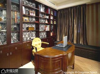 新古典风格别墅奢华书房装修效果图