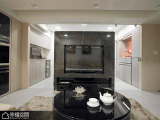 简约风格舒适电视背景墙旧房改造平面图