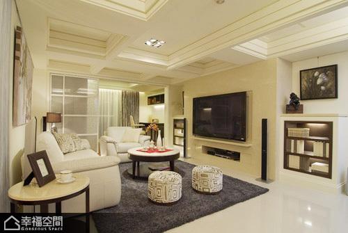 新古典风格舒适客厅旧房改造家装图片