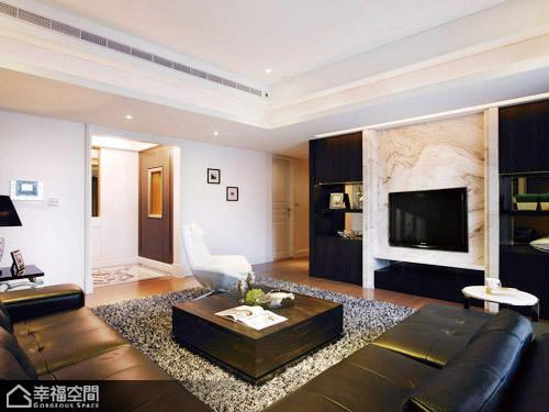 英伦风格公寓时尚电视背景墙装修效果图