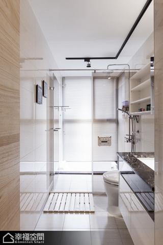 北欧风格公寓简洁整体卫浴效果图