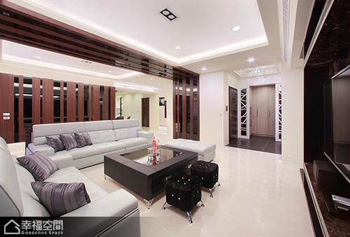 新古典风格别墅简洁沙发背景墙效果图