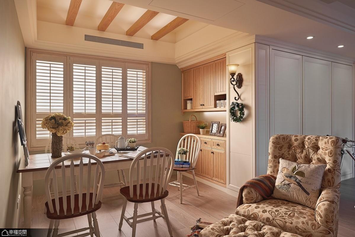 美式乡村风格别墅温馨书房装修效果图图片