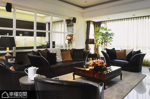 新古典风格别墅奢华沙发背景墙装修效果图