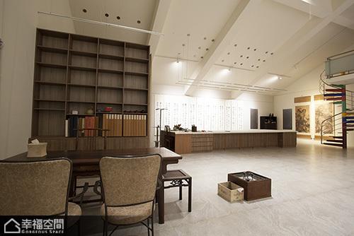 中式风格别墅艺术书房效果图