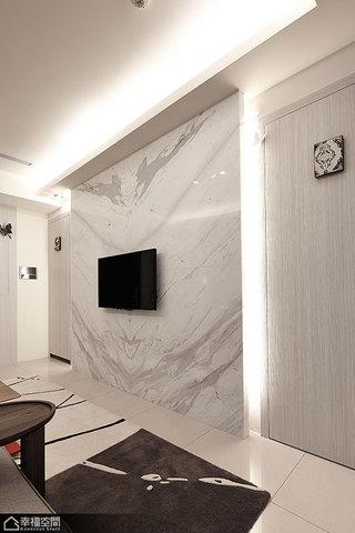 简约风格公寓浪漫电视背景墙效果图
