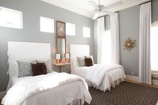 优雅纯白简单复式别墅设计