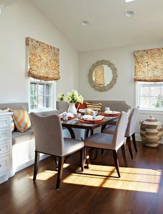混搭风格富裕型140平米以上厨房餐厅客厅一体装修图片