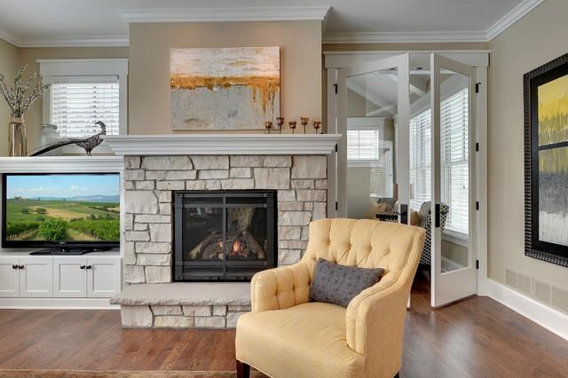 房间欧式风格富裕型140平米以上砖砌真火壁炉设计图效果图