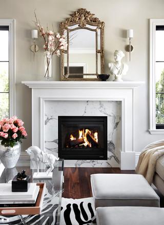 中式简约风格富裕型140平米以上砖砌真火壁炉设计图效果图