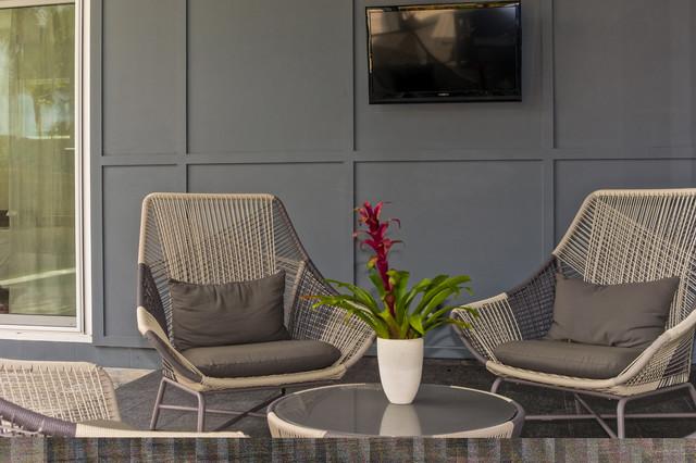 简约风格经济型140平米以上庭院围墙装修