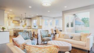 混搭风格富裕型140平米以上布艺沙发床图片