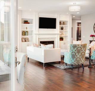 混搭风格客厅富裕型140平米以上大电视背景墙装修效果图