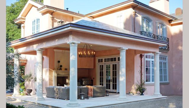 现代欧式风格富裕型140平米以上庭院围墙装修