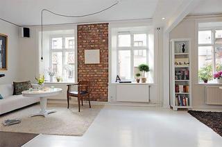 北欧白色主题复古公寓