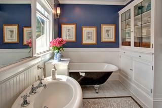 混搭风格客厅经济型140平米以上独立式浴缸图片