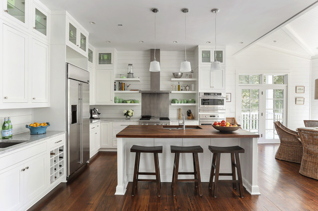 现代简约风格厨房140平米以上开放式厨房吧台设计图纸