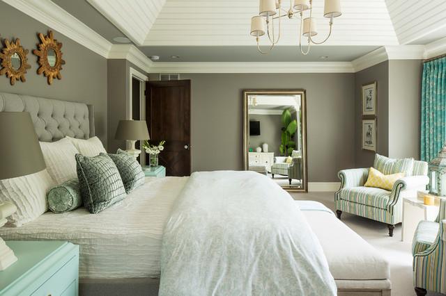 混搭风格客厅富裕型140平米以上6平米卧室装修图片