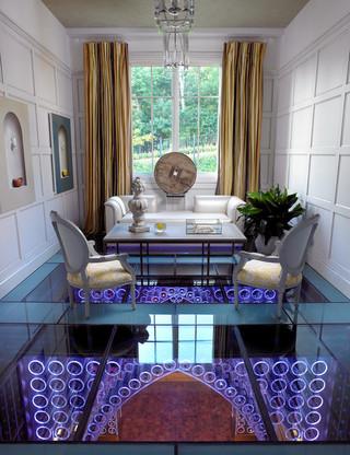 混搭风格客厅富裕型140平米以上折叠餐桌图片