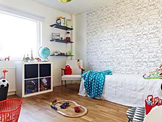 北欧风格舒适小卧室壁纸旧房改造家装图片