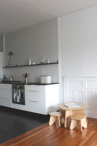简约风格经济型130平米三室两厅4平方厨房改造