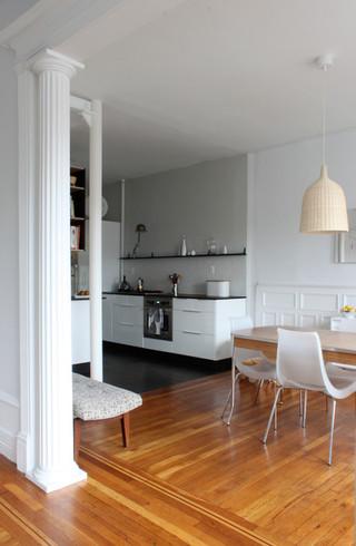 简约风格客厅经济型130平米开放式厨房餐厅效果图
