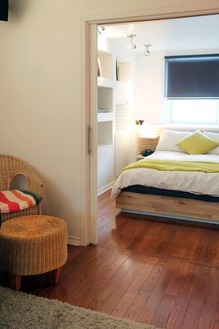 色彩亮丽的地下室公寓