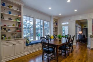 混搭风格富裕型140平米以上客厅和餐厅的设计