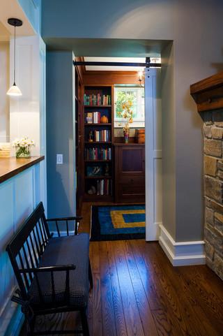 田园风格客厅富裕型140平米以上阳台书架效果图