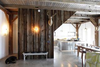 中式简约风格经济型140平米以上客厅过道装修效果图