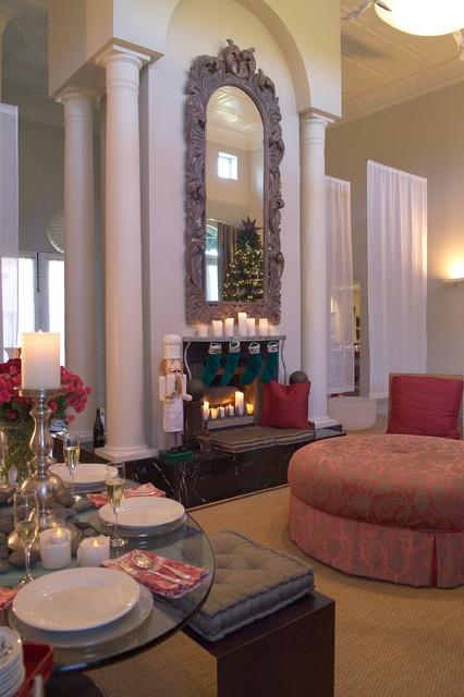 混搭风格客厅富裕型140平米以上布艺沙发效果图