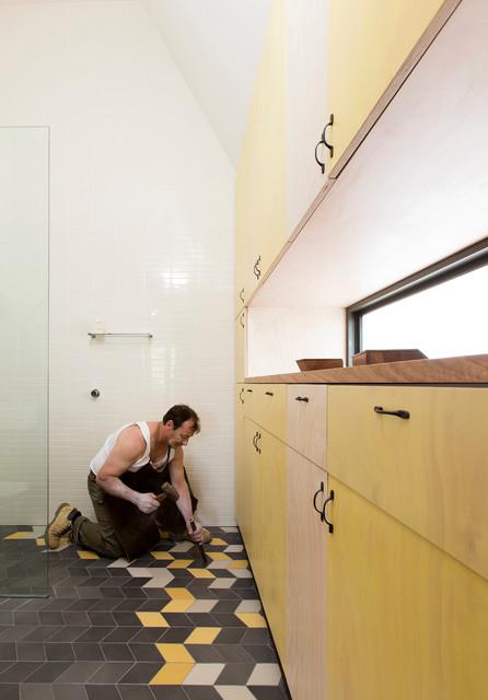 现代简约风格卫生间经济型140平米以上橱柜效果图