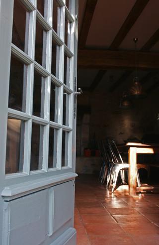 田园风格餐厅富裕型140平米以上开放漆木门效果图