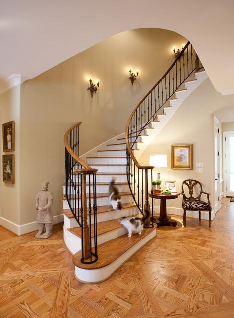 美式乡村风格卧室半复式楼暖色调120平米三室两厅两图片