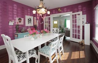 混搭风格单身公寓另类卧室白色简约吊顶餐厅效果图