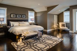 混搭风格客厅2013年别墅稳重咖啡色中式实木床图片