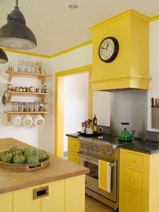 田园风格装饰三层别墅梦幻家具米黄色调墙壁2013厨房设计