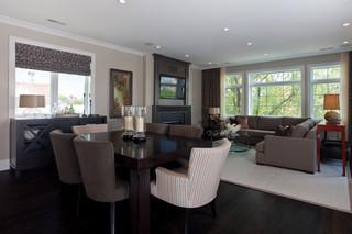 北欧风格客厅三层双拼别墅奢华家具灰色窗帘客厅过道装修效果图