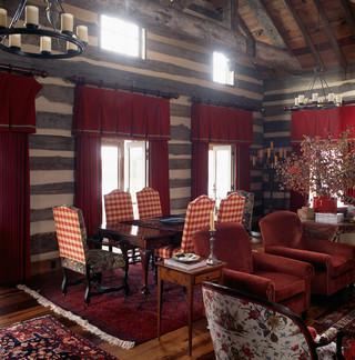 现代欧式风格200平米别墅中式古典风格咖啡色吊顶餐厅装修效果图