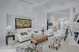 欧式风格三层小别墅唯美白色门2013现代客厅效果图