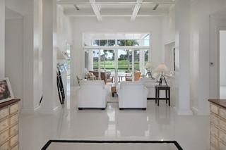 欧式风格客厅三层连体别墅唯美白色欧式家具家装过道吊顶设计图