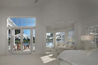 欧式风格卧室200平米别墅唯美白色家具家装飘窗设计图纸