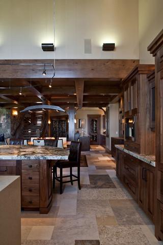 欧式风格家具一层别墅及稳重咖啡色客厅过道吊顶装修图片