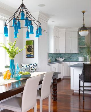 中式简约风格一层别墅小清新白色欧式家装灯具图片