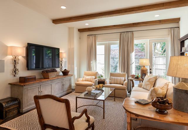 房间欧式风格三层双拼别墅唯美原木色别墅电视背景墙效果图