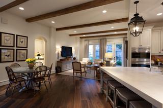 欧式风格客厅三层平顶别墅唯美原木色家居效果图
